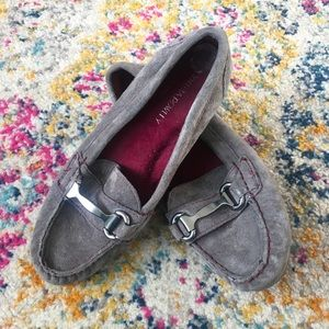 Cynthia Rowley - charcoal grey leather loafers